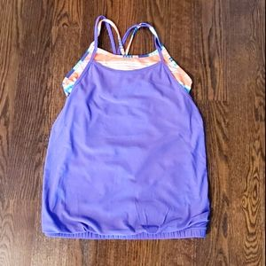 Ivivva Purple Top with Built in Tank Size 14